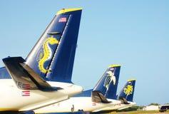 Seaborne nós logotipos das linhas aéreas de Virgin Islands Fotografia de Stock