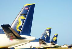 Seaborne us virgin islands airlines logos Stock Photography
