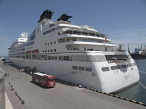 Seabourn Quest is a luxury cruise ship Stock Photos