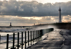 Seaburn Stormy Waterfront Royalty Free Stock Images
