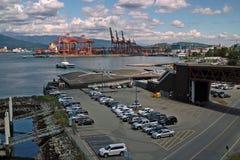 SeaBus BC终端温哥华加拿大。 免版税库存图片