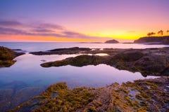 Seacape im Sonnenuntergang Stockfotografie
