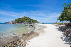 Seacape of tropical beach at Nang Yuan Island. Suratthani, Thailand Stock Images