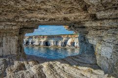 Seacaves ayia napy punkt widzenia Zdjęcia Stock