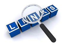 Search for links Royalty Free Stock Photo