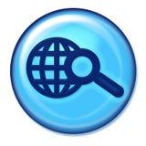 Seach Web Button. Blue search web button Stock Photos