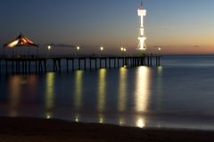 Seacliff beach. Seaside view in the evening, sunset Royalty Free Stock Photo