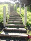 Seacliff Stairs. Stairs leading to China Beach Royalty Free Stock Images