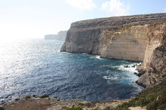 The seacliff at Ta Cenc in Gozo Malta Stock Images