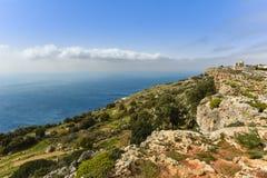 Seacoast Μάλτα απότομων βράχων Dingli Στοκ εικόνες με δικαίωμα ελεύθερης χρήσης