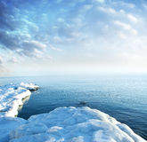 seacoast πάγου Στοκ φωτογραφίες με δικαίωμα ελεύθερης χρήσης