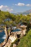 Seacoast. Mediterranean sea at coast Mentony Stock Photography
