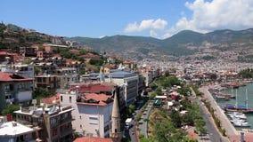 Seacoast, Alanya, Turkey stock video footage
