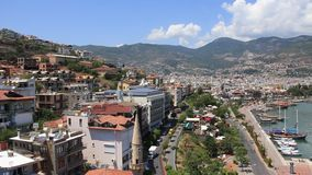 Seacoast, Alanya, Turkey stock footage