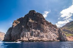 Seacoast av ön Majorca Nära Lock de Formentor royaltyfri bild