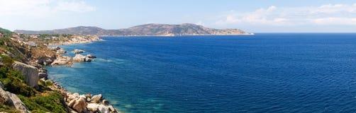 Seacoast av Calvi Arkivbilder