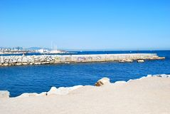 Seacoast of Barcelona Stock Images