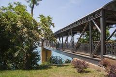 Seacoast bridge Royalty Free Stock Images