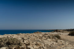 Seacoast. Cyprus seacoast  Cape Greco National Park Stock Photography