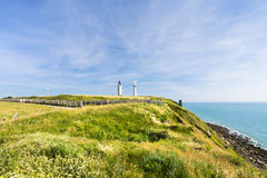 Seacoast of English Channel in Normandy Royalty Free Stock Images