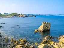 Seacoast on the Guernsey island Stock Photos