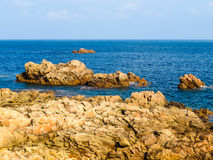 Seacoast on the Guernsey island Royalty Free Stock Photography