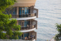 Seacoast hotel Stock Images