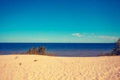 Seacoast i en solig dag fotografering för bildbyråer