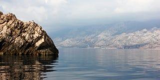 Seacoast i Kroatien arkivbilder