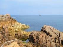 Seacoast i widok zatoka Zdjęcie Stock