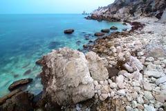 seacoast krajobrazowi kamienie Obrazy Royalty Free