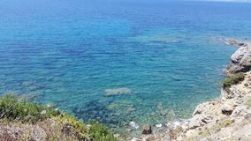 Seacoast. Mediterranean sea coast Stock Photos