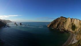 Seacoast norte da Espanha fotografia de stock