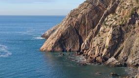 Seacoast norte da Espanha imagens de stock