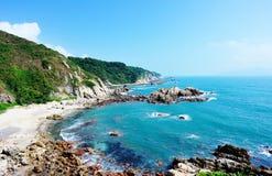 Seacoast piękny krajobraz Fotografia Royalty Free