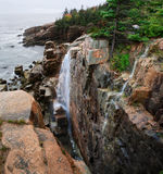 The Seacoast In The Rain. At Acadia National Park royalty free stock photos