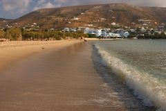Seacoast, sandy beach. Paros, Greece Stock Photography