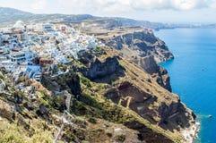 Seacoast of Santorini, Greece Royalty Free Stock Photos