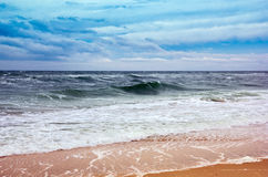 Seacoast with sea and sand Royalty Free Stock Photography