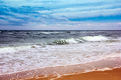 Seacoast with sea and sand Stock Image