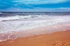 Seacoast with sea and sand Stock Photo