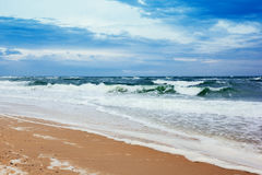 Seacoast with sea and sand Royalty Free Stock Photo
