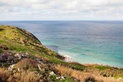 Seacoast on small island Gozo, Malta. Royalty Free Stock Image