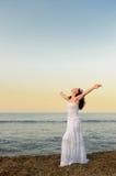 seacoast sundress biała kobieta Fotografia Stock