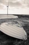 Seacoast wind turbine Royalty Free Stock Photo