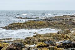 Seacoastkust i Portsmouth, New Hampshire, USA arkivbilder