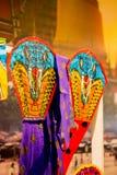 Seacon Bangkae, Μπανγκόκ, Ταϊλάνδη τον Αύγουστο 12.2017: Επίδειξη της ζωηρόχρωμης ταϊλανδικής kitesselective εστίασης Στοκ Φωτογραφίες