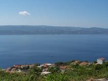 Seacost en Croacia Imagen de archivo libre de regalías