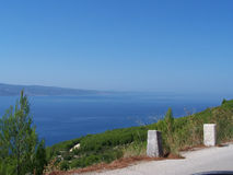 Seacost i Kroatien Royaltyfria Bilder