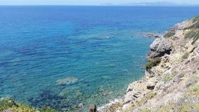 Seacost. Mediterranean rock coast Royalty Free Stock Image